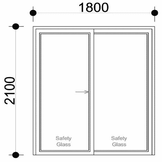 Tùy thuộc vào từng loại cửa sẽ có từng kích thước khác nhau
