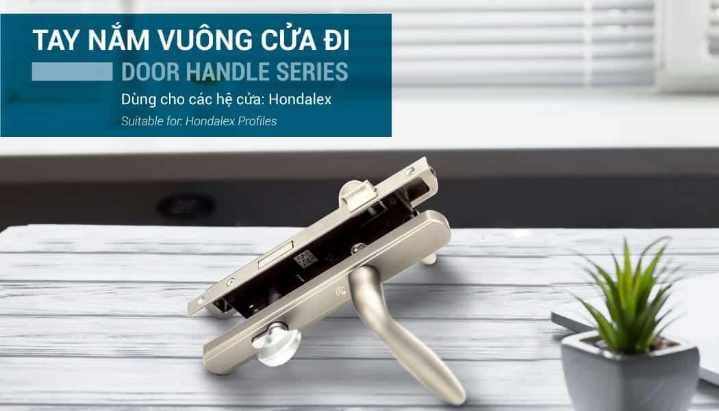 Phụ kiện tay nắm cửa nhôm Hondalex
