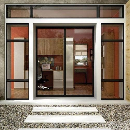 Cửa nhôm kính cho những ngôi nhà có lối kiến trúc đơn giản