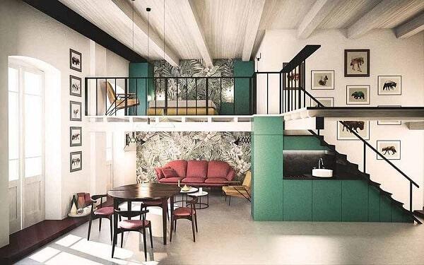 Việc sử dụng những gam màu sáng, trông ngôi nhà có chiều sâu và rộng hơn