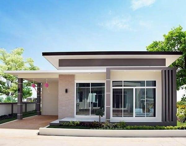 Nhà cấp 4 mái bằng sử dụng nhôm kính mở rộng không gian sống tiện nghi