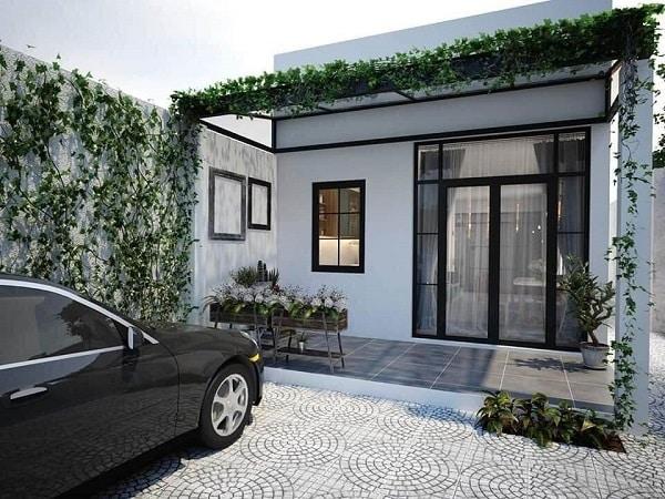Kết cấu nhà đơn giản nhưng sang trọng